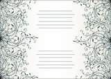Decorative text card design