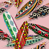 Ikat feather pattern