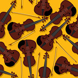 Violins and bow pattern
