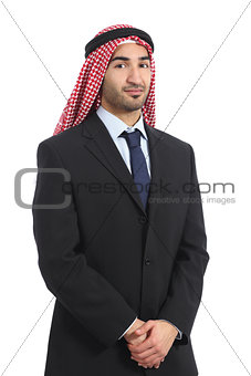 Arab saudi emirates businessman posing serious