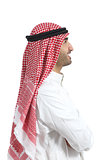 Profile portrait of an arab saudi emirates man