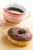 doughnut with black coffee