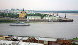 Evening cruise on the river in Nizhny Novgorod