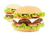 Two fresh burgers
