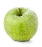 A ripe green apple