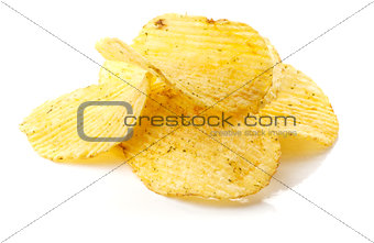 Potato chips with spice
