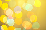 Abstract bokeh on yellow