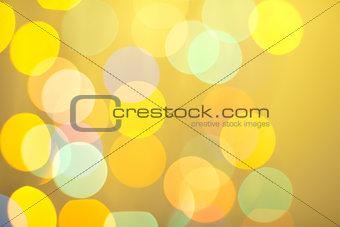 Abstract bokeh on yellow