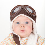 Closeup portrait of cute baby