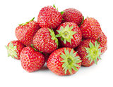 Strawberry fruits heap