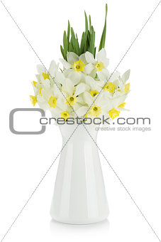 Bouquet of white daffodils