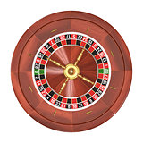 Roulette Over White