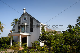 0026-Catholic Church at countryside - Bentre province