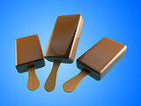 chocolate ice cream 3d Illustrations.