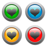 Heart icons buttons
