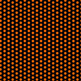Halloween Seamless Dots Pattern Orange and Black