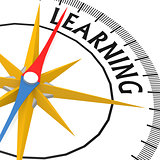 Compass with learning word