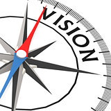Compass with vision word