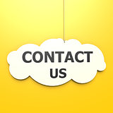 Contact us word in yellow background