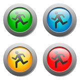 Running man icon on buttons