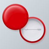 Blank Red Vector Badges