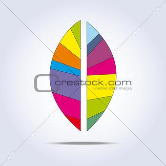 Bright leaf icon. Vector illustration