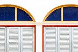Twin wooden door