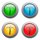 palms icon on glass buttons