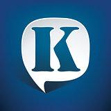 Bubble speech letter K