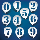 Bubble speech numbers