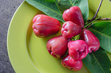 rose apple on dish
