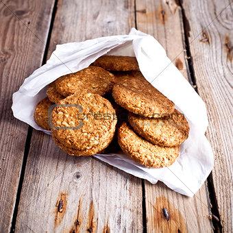 fresh crispy oat cookies