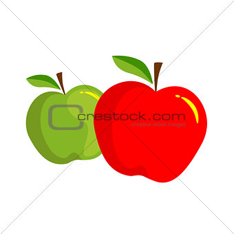 Apple red green