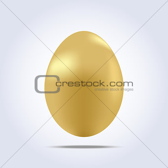 One big golden easter egg icon