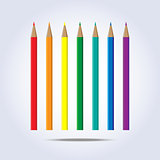 Pencils of rainbow colors in vector