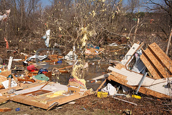 Tornado aftermath in Lapeer, MI.