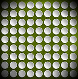 Circles on a Green Velvet Background