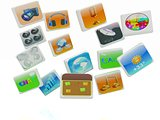 Cloud of media application Icons
