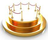 Gold podium 3d