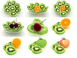Set of slices of kiwi