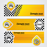 Taxi company banner set of 3