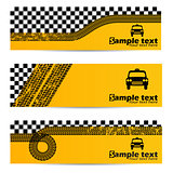 Taxi tire banner set of 3
