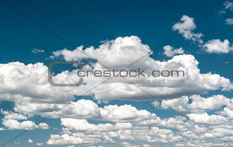 Background of blue sky and clouds