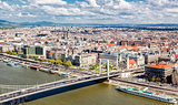 View of Pest, eastern part of Budapest. Hungary