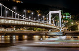 Night view of Elisabeth Bridge