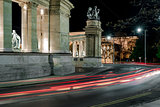 Road by night. Budapest, Hungary