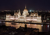 Hungarian Parliament Building at night. Budapest, Hungary