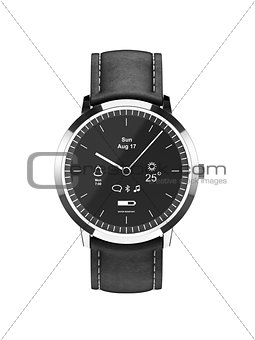 Classic look smart watch front view