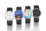 Smart watches with different interfaces