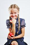 Smiling cute school girl